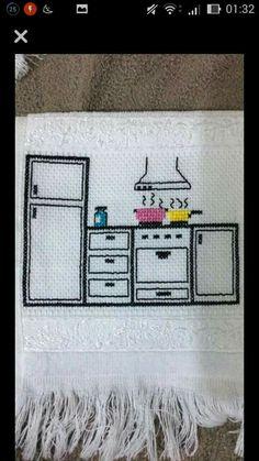 Bargello, Pixel Art, Cross Stitch, Embroidery, Sewing, Color, Dish Towels, Cross Stitch Embroidery, Smocking