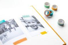 Wir zeigen euch, wie ihr eure Fotoalben stilvoll mit Masking Tape, Dymo, Stempel, Klebebuchstaben und Fotoecken aufpimpen könnt, ohne sie zu überladen.