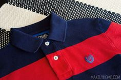 How to care for a polo shirt so that the collar doesn't curl or crease!  via MakelyHome.com This helps!!!!
