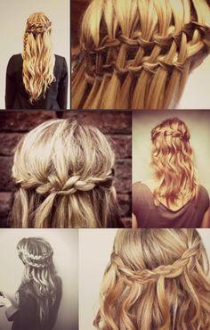 waterfall braid ideas #hair #hthg
