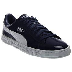 355e2192b PUMA Women s Basket Matte  amp  Shine Navy Athletic Shoe Classic Sneakers