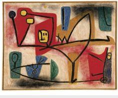 Paul Klee (1879-1940) Übermut (High Spirits), 1939 (1251). Oil and coloured paste on paper on burlap; original frame. 101cm H x 130cm W. (Zentrum Paul Klee, Bern)