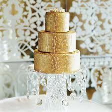 Gold wedding cake...