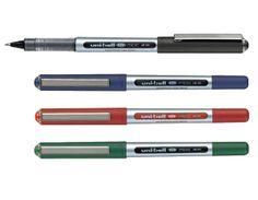 ROTULADOR UNIBALL EYE. azul, Negro, Rojo o Verde. Roller de punta de bola 0,5. Con regulador de tinta pigmentada, indeleble, resistente a la luz solar, y visor del nivel de tinta.