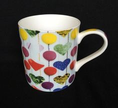 Ella Doran Sweetie Love Queens Kitchen Fine Bone China Coffee Mug Hearts