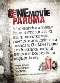 Flex cria ação Cine Movie Paroma