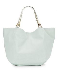 Downtown Perforated Faux Leather Tote