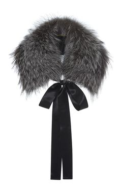 f9e4e5e5b09b2 Fox Fur Stole by ALBERTA FERRETTI for Preorder on Moda Operandi Fur Stole,  Grey Scarf