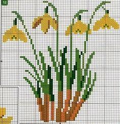Este posibil ca imaginea să conţină: plantă 123 Cross Stitch, Cross Stitch Flowers, Counted Cross Stitch Patterns, Cross Stitch Designs, Cross Stitch Embroidery, Embroidery Patterns, Owl Quilt Pattern, Quilt Patterns, Paper Towel Roll Crafts