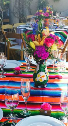 Mexican themed quinceañera centerpieces
