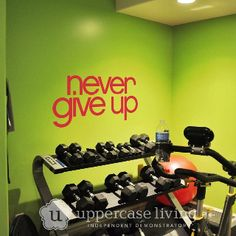 FabULous gym! Shop online at www.decor8mywalls.com Be sure to visit and like my facebook page! http://www.Facebook.com/DesignerExpressionsandlettering