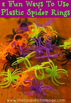 Looking for inexpensive Halloween fun?  Try these 8 Fun Uses for Spider Rings!  Perfect for parties and craft time.