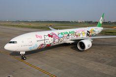 Un Boeing 777-300ER entièrement customisé et dédié à l'univers de Hello Kitty