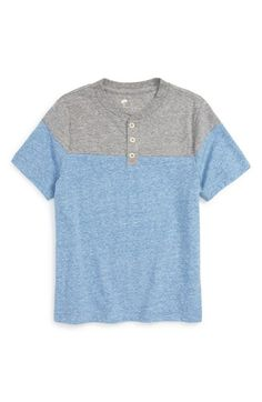 Tucker + Tate Colorblock Henley (Toddler Boys, Little Boys & Big Boys) available at #Nordstrom