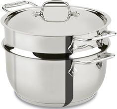 All-Clad E414S564 Stainless Steel Steamer Cookware, 5-Quart, Silver ** Click on the image for additional details.