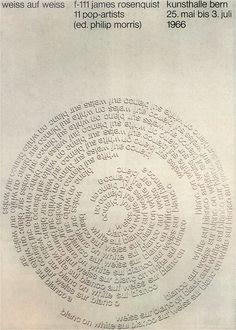 Peter Megert, Weiss auf weiss, typographic poster 1966 #typography #graphic_design #swiss