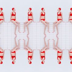 By Maria svarbova The photo has balance and is symmetric from the y and x axis Conceptual Photography, Underwater Photography, Art Photography, Zombies Zombies, Swimming Posters, Photocollage, Red Swimsuit, Red Aesthetic, Photo Illustration