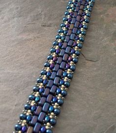 Tutorial. Czech Brick and Super Duo Beaded Bracelet Pattern, Step by Step with Detailed Diagrams. Pathways