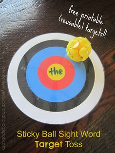 Relentlessly Fun, Deceptively Educational: Sticky Ball Sight Word Target Toss