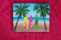 Hey, I found this really awesome Etsy listing at https://www.etsy.com/listing/199656945/surf-decor-surfboard-painting-beach