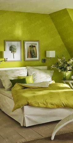 Gorgeous green bedroom.  Via @lunamiangel. #bedrooms #homedecor