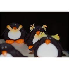 Detail from penguin and iceberg cake