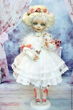 Коллекционные куклы ручной работы. Ангел. YanaDolls. Ярмарка Мастеров. Ангелы, Овечьи кудри