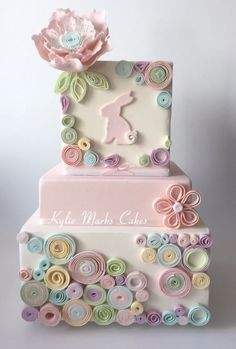 Quilled Easter cake