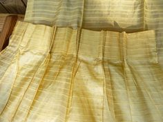 Pale YELLOW SILK CURTAINS Pinch Pleat Long by VelveteenHabbit, $5.00