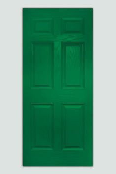 Perfect for Colonial houses, the molded raised panels of this fiberglass door from plastproinc.com (about $450) suggest the look of wood. | thisoldhouse.com