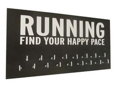 Medals display rack -  Happy Pace - MEN RUNNING MEDAL HOLDER - perfect gift for runners - medal hanger - medal display - medal holder for running awards. $24.99