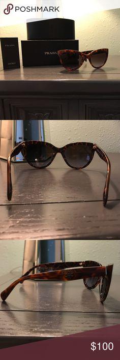 Prada sunglasses Authentic Prada sunglasses. Worn less than five times. Prada Accessories Sunglasses