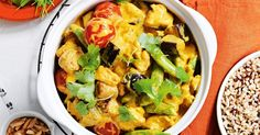 For an effortless weeknight meal you can't go past this flavoursome one-pan chicken and eggplant curry.