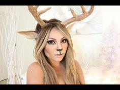 Reindeer Girl Makeup Tutorial - YouTube