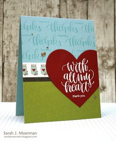 My Impressions: Simon Says Stamp November Card Kit: With All My Heart (& GIVEAWAY)!