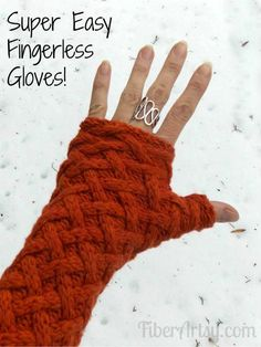 Easy Fingerless Gloves from a Sweater Breathe new life into an old sweater! Super easy step by step tutorial for making fingerless gloves. No knitting or crochet required. A free FiberArtsy.com Tutorial