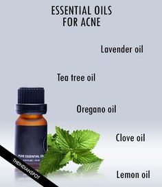 HOW TO USE ESSENTIAL OILS FOR ACNE TREATMENT