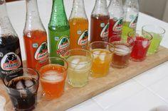 Jarritos  Mexican Cola, Mandarin, Toronja (grapefruit), Mango, Tamarind, Fruit Punch and Lime.