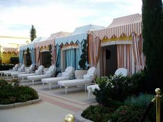 Pool cabanas Paris Hotel Boutique Journal: circus Many carnival pics Beach Cabana, Pool Cabana, Outdoor Rooms, Outdoor Living, Resorts, Villas, Boutiques, Luxury Tents, Gardens