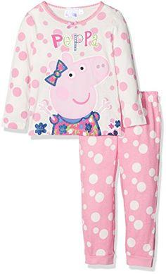 Peppa Pig Original Girls 100/% Cotton Pyjamas Pyjama Set of Long Sleeve Top and Cuffed Trousers Pjs 1-6 Years