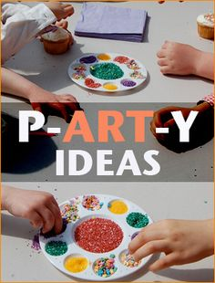Art Party. Keep your little party guests engaged with these great art and craft ideas. Celebrate your little artist with fun creations. Perfect for a boy or girl birthday party that everyone will love.