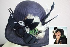 """Post @flashofthefuse's post on her Phryne Christmas headband brooch I found that """" Gareth Blaha creates Phryne's more outrageous """"fluffy, frou frou"""" headwear"""". The felt hats are by Mandy Murphy."""