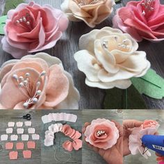 Photo - Photography, Landscape photography, Photography tips Paper Flowers Diy, Handmade Flowers, Flower Crafts, Fabric Flowers, Felt Crafts Diy, Felt Diy, Handmade Felt, Felt Roses, Felt Flowers