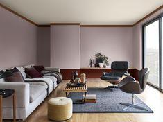 ZuhauseFarbe Des JahresFarbpaletteFarbenHalb Bemalte WändeDie FarbeSofa  DesignInnenarchitekturWohnzimmer Inspiration