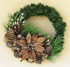 Rustic Winter Wreath by Ghirlande on Etsy