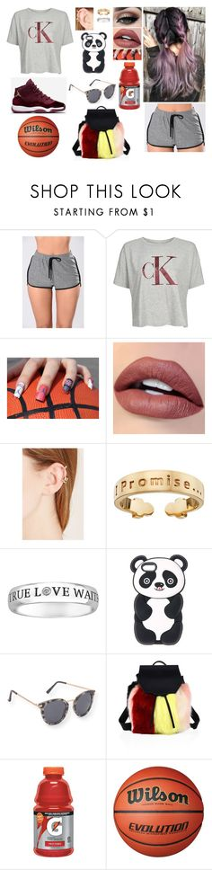 """""""Playing Bball With Bae"""" by divinemaboundou ❤ liked on Polyvore featuring Topshop, Tiger Mist, Forever 21, I Promise by Karen R., Aéropostale, Kendall + Kylie and Gatorade"""