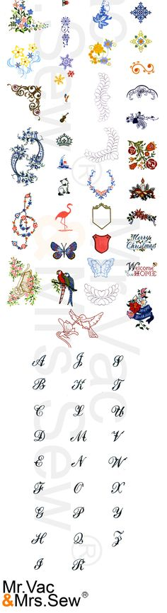 Built In Embroidery Designs Enlarged