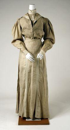 """Linen Sailor suit ca. 1895 via The Costume Institute of the Metropolitan Museum of Art"""