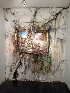 Valerie Hegarty (American, b. Burlington, VT, USA) - Autumn on the Wissahickon with Tree, 2010 (reinstalled Washington with Branch (Version 2017 Headless George. Decay Art, Modern Art, Contemporary Art, Growth And Decay, A Level Art, Art Plastique, Art Sketchbook, Artist Painting, Oeuvre D'art