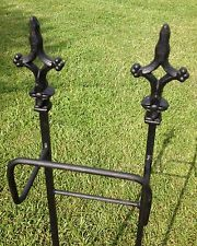 Excited to share this item from my shop: Cathedral hanger SHIPS FREE. Holds of hose. Water Hose Holder, Garden Hose Hanger, Hose Storage, Square Fire Pit, Farmhouse Garden, Hose Reel, Lawn Care, Wrought Iron, Beautiful Gardens